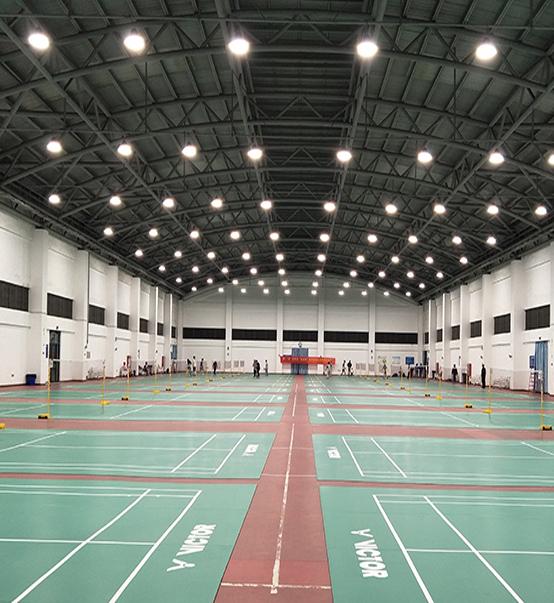 LED UFO High Bay Light 200w used for badminton court in Kuala Lumpur, Malaysia