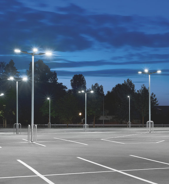 LED Parking Lot Light 75W used for parking lot in California,USA