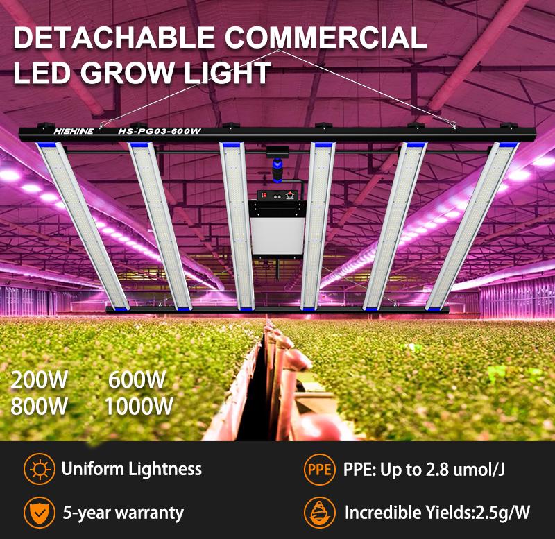 600w led grow light-high luminous efficiency-high capacity full spectrum grow light
