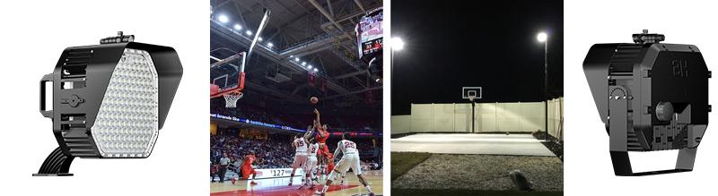 indoor and outdoor basketball court lighting